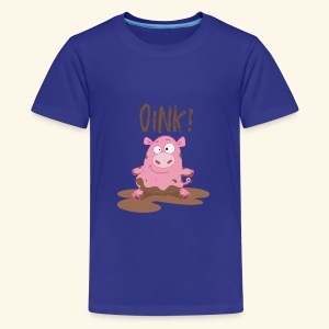 Toddlers & Kids Funny Piggy T Shirt - Teenage Premium T-Shirt