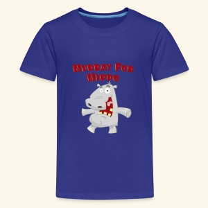 Toddlers & Kids Happy Hippo T Shirt - Teenage Premium T-Shirt