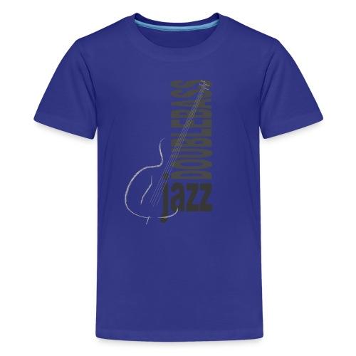 Jazz Double Bass - Maglietta Premium per ragazzi
