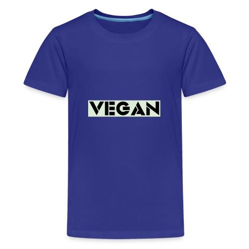 VEGAN IN BOLD - Teenage Premium T-Shirt