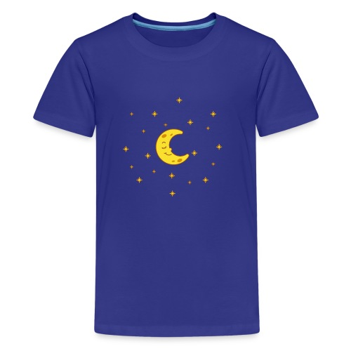 Mond und Sterne - Teenager Premium T-Shirt