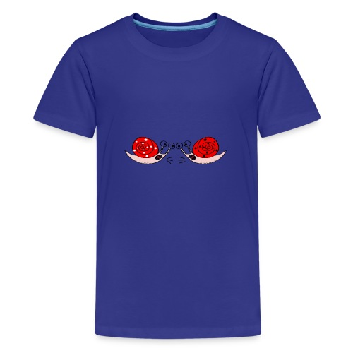 Crazy snails - Teenage Premium T-Shirt