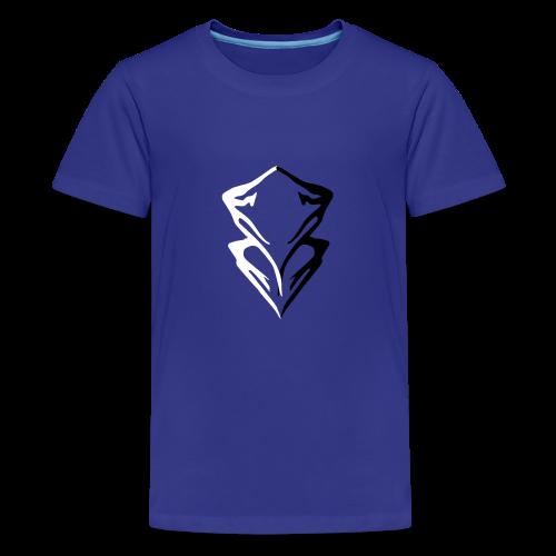 Summit Mountain Logo - Teenage Premium T-Shirt