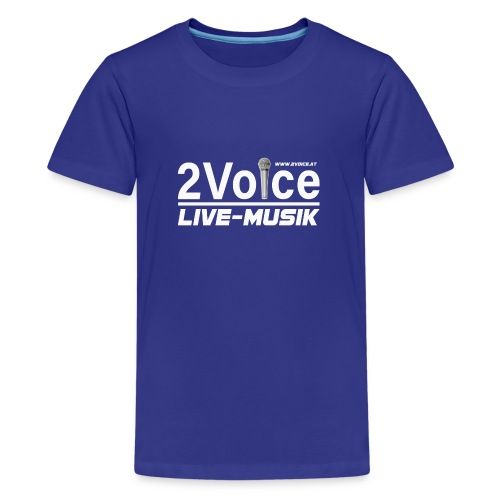 2VOICE Live Musik - Teenager Premium T-Shirt