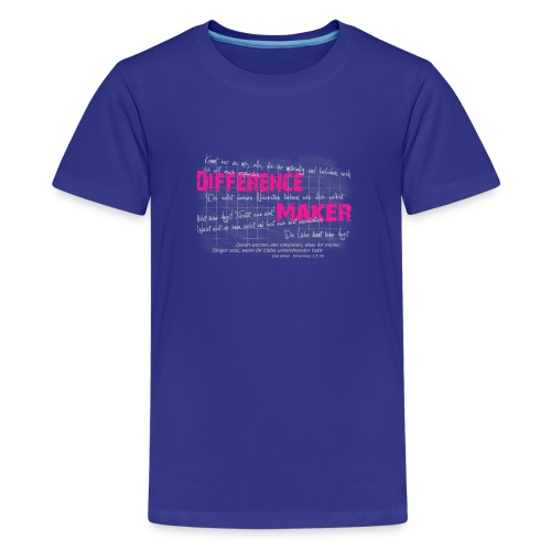 Difference Maker pink - Teenager Premium T-Shirt