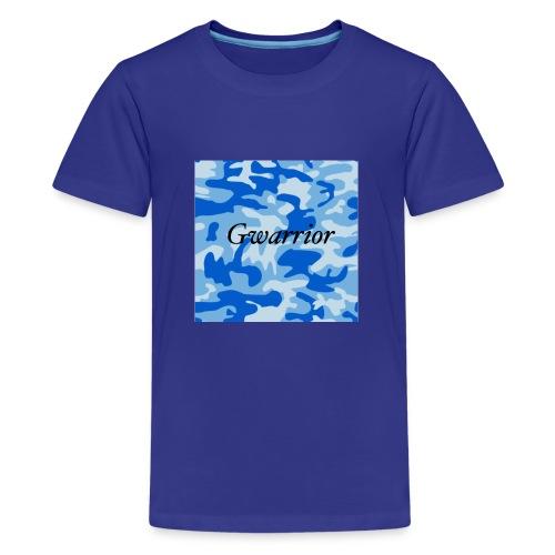 GWARRIOR BLUE CAMMO TSHIRT - Teenage Premium T-Shirt