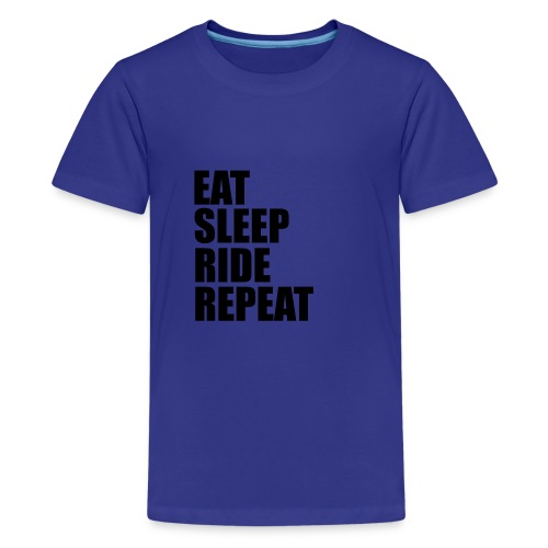 Eat sleep ride repeat - Maglietta Premium per ragazzi
