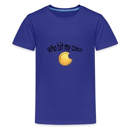 Bitcoin bite - Teenager Premium T-shirt