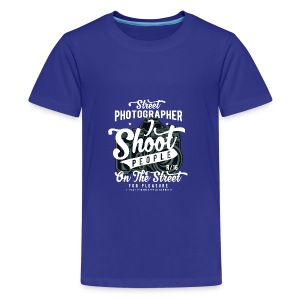 SHOOT PEOPLE - Cam Kamera Shirt Prensent - Teenager Premium T-Shirt