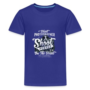 STREET PHOTOGRAPHER - Cam Kamera Shirt Geschenk - Teenager Premium T-Shirt