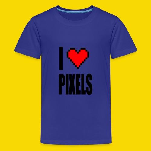 I Love Pixels - Koszulka młodzieżowa Premium