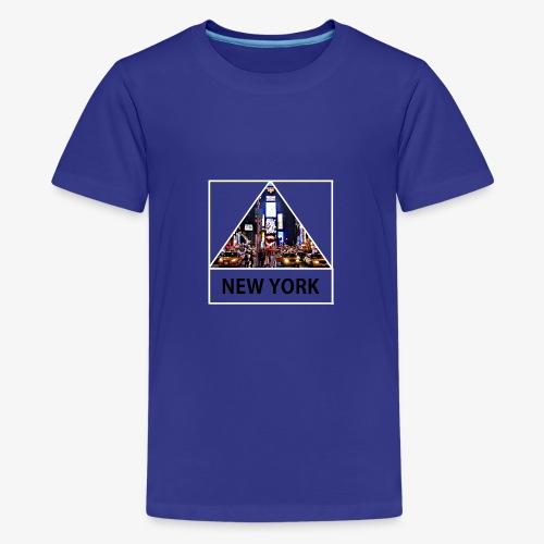 Triangle sur New York - T-shirt Premium Ado