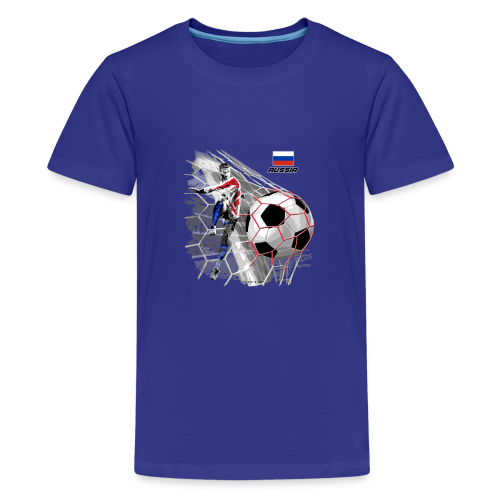 GP22F-04 RUSSIAN FOOTBALL TEXTILES AND GIFTS - Teinien premium t-paita