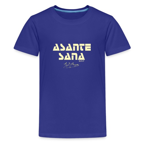 Asante sana pale gold - Teenage Premium T-Shirt