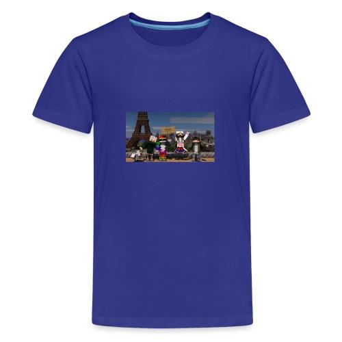 Paris Minecraft Bild mit Mir, Luka, Helena - Teenager Premium T-Shirt