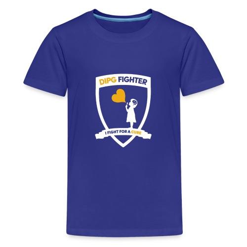 DIPG Wappen Weiß - Teenager Premium T-Shirt