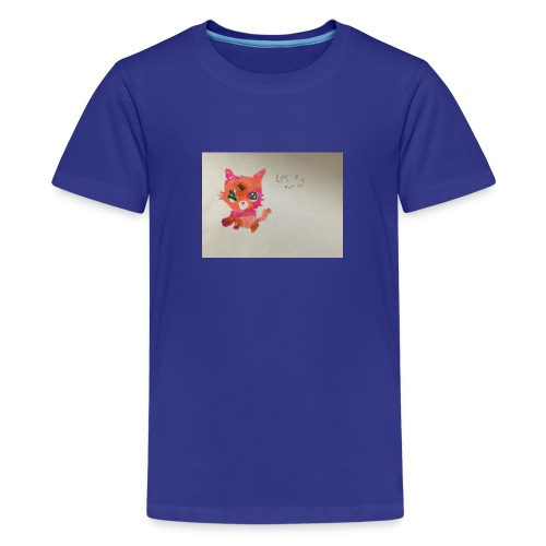 Little pet shop fox cat - Teenage Premium T-Shirt