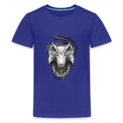 Wolf Tattoo Design - Teenager Premium T-Shirt