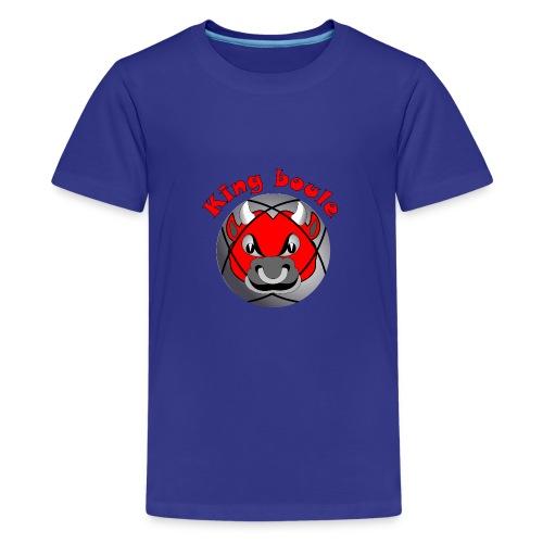 t shirt King boule roi pétanque tireur pointeur - T-shirt Premium Ado