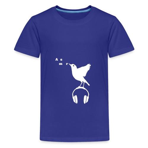 Valkoinen Asmr-lintu ilman tekstiä - Teinien premium t-paita