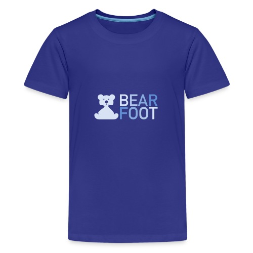BEAR FOOT fade blue - Teenager Premium T-Shirt