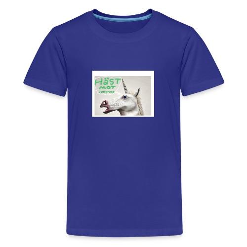 haest mot folkgrupp - Premium-T-shirt tonåring