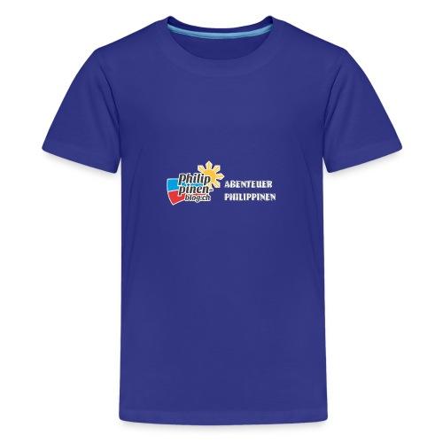 Philippinen-Blog Logo deutsch schwarz/weiss - Teenager Premium T-Shirt