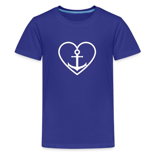 Anker Herz Liebe Küste Norddeutschland Wasser See - Teenager Premium T-Shirt