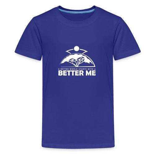 Better Me - White - Teenage Premium T-Shirt