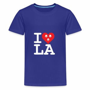I Love LA! weiss mit Bändern - Teenager Premium T-Shirt
