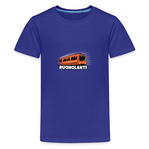 17 - METRO RUOHOLAHTI - HELSINKI - LAHJATAVARAT - Teinien premium t-paita