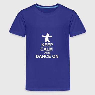 Keep Calm Hippo - Teenager Premium T-Shirt