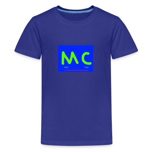 MainCraft Logga Blå - Premium-T-shirt tonåring