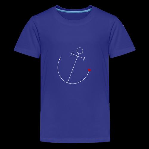 Anker mit Herz - Teenager Premium T-Shirt