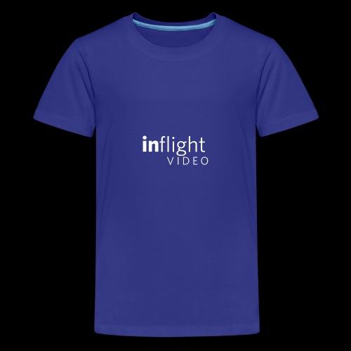 logo transparent bg large monowhite - Teenage Premium T-Shirt