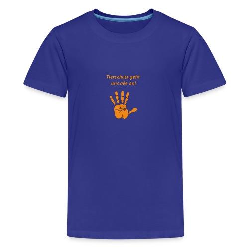 Tierschutz geht uns alle an - Teenager Premium T-Shirt