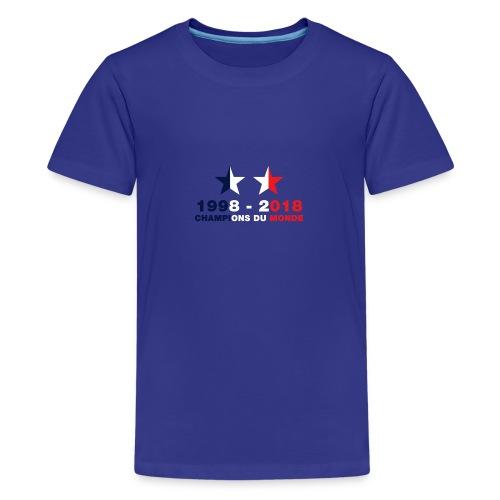 France - Champions du monde - 1998-2018 - T-shirt Premium Ado