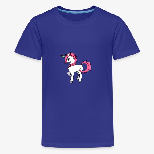 Süsses Einhorn mit rosa Mähne und Regenbogenhorn - Teenager Premium T-Shirt