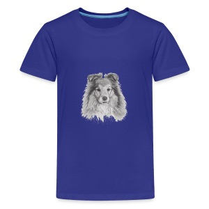 shetland sheepdog sheltie - Teenager premium T-shirt