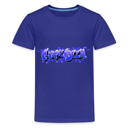 Graffiti Carpe Diem Bleu - Teenage Premium T-Shirt