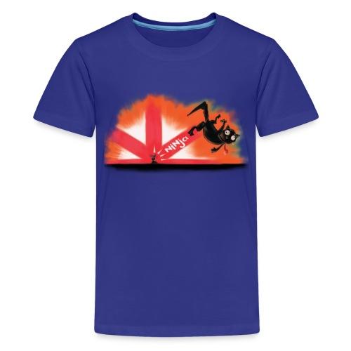 The Mysterious Ninja Mouse - Teenage Premium T-Shirt