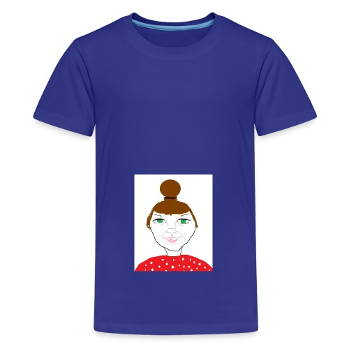 Bonny with a bun - Premium-T-shirt tonåring