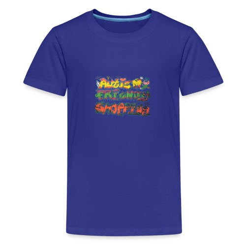 Autism Friendly Shopping Graffiti Style - Teenage Premium T-Shirt