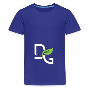 DrGreen Logo Symbol weiss grün - Teenager Premium T-Shirt