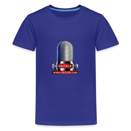 OKiTALK.com Logo - Mikrofon - Teenager Premium T-Shirt
