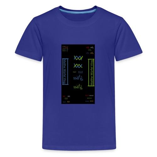 Malthe Würfel - Teenager premium T-shirt
