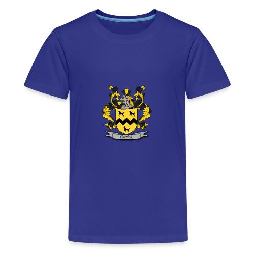 Carrick Family Crest - Teenage Premium T-Shirt