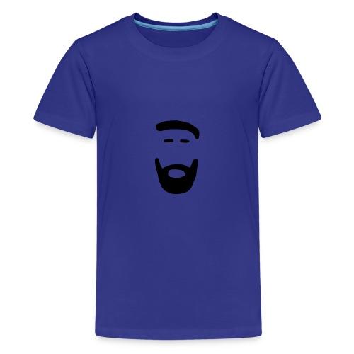 Mann mit Bart schwarz - Teenager Premium T-Shirt