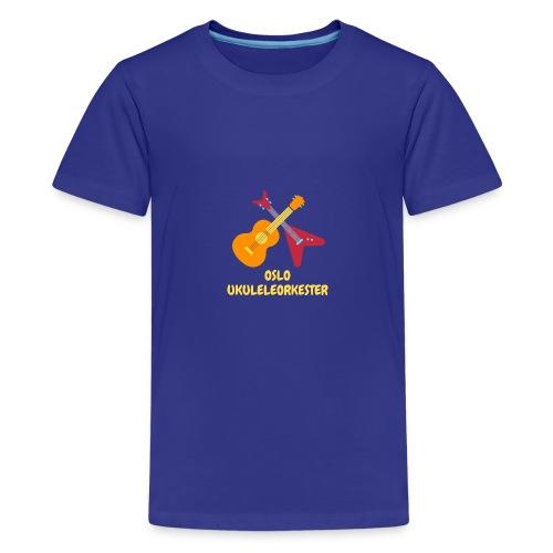 Oslo Ukuleleorkester sin t-shorte - Premium T-skjorte for tenåringer