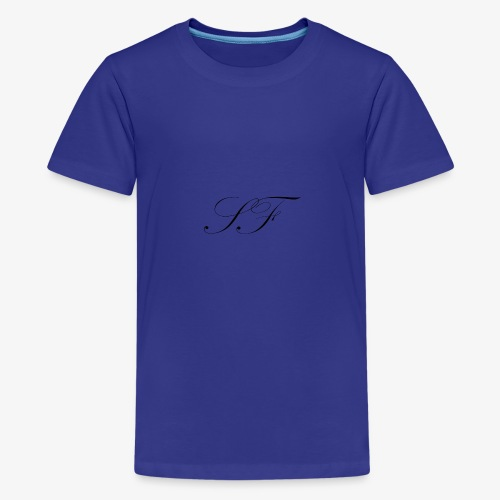 SF HANDWRITTEN LOGO BLACK - Teenage Premium T-Shirt